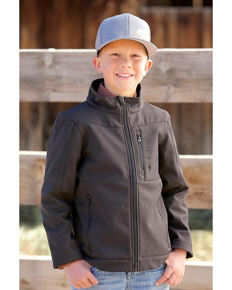 Cinch Boys' Black Bonded Fleece Jacket