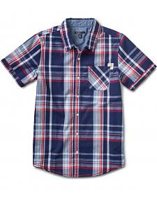 Silver Boys' Plaid Short Sleeve Shirt