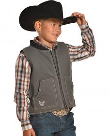"Cowboy Hardware Steel Grey ""By the Horns: Canvas Vest"