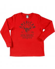 "Cowboy Hardware Boy's ""Born & Raised"" Long Sleeve T-Shirt"