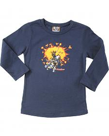 "Cowboy Hardware Toddler Boys' ""Born & Raised"" Long sleeve T-Shirt"