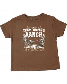 "Cowboy Hardware Toddler Boys' Brown ""Team Roping Ranch"" T-Shirt"