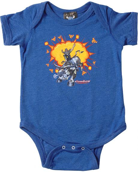 Cowboy Hardware Royal Blue Rodeo One Piece Bodysuit