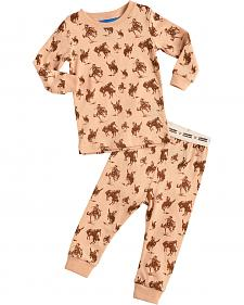 Cowboy Hardware Infant Boys' Tan Horse Print Playset