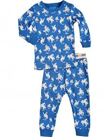 Cowboy Hardware Infant Boys' Blue Horse Print Playset