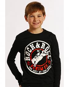 Rock and Roll Cowboy Boys' Black Rodeo Long Sleeve
