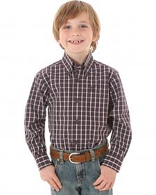 Wrangler George Strait Boys' Plaid Shirt