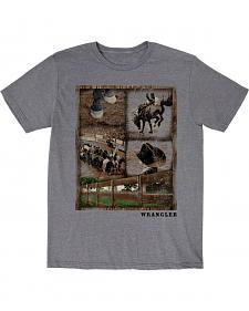 Wrangler Boys' Rodeo Snapshot Short Sleeve T-Shirt