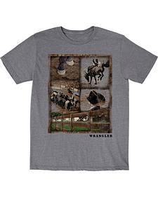 Wrangler Boys' Rodeo Snapshot Short Sleeve T-Shirt