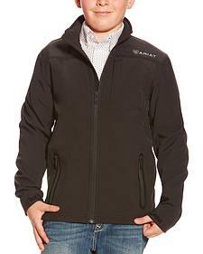 Ariat Boys' Black Vernon Softshell Jacket