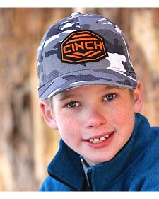 Cinch Boys' Grey Camo Flexfit Ballcap