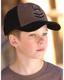 Cinch Boys' Black and Brown Cinch Snap Ballcap
