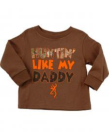 "Browning Toddler Boys' ""Huntin' Like Daddy"" Long Sleeve Tee"