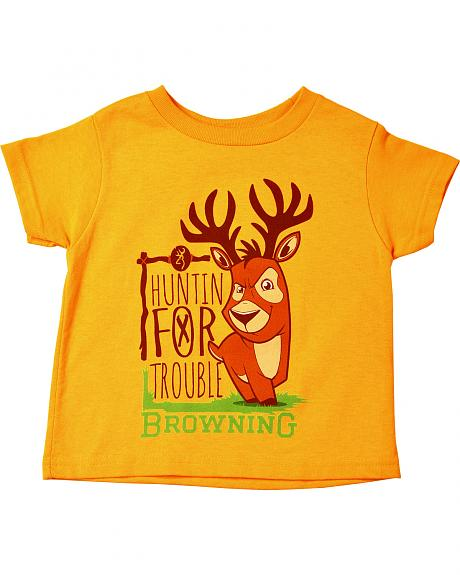 Browning Toddler Boys' Gold Huntin' For Trouble T-Shirt