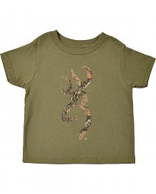 Browning Toddler Boys' Heather Green Mo Country Buckmark T-Shirt