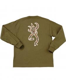 Browning Youth Boys' Mo Country Buckmark Long Sleeve T-Shir