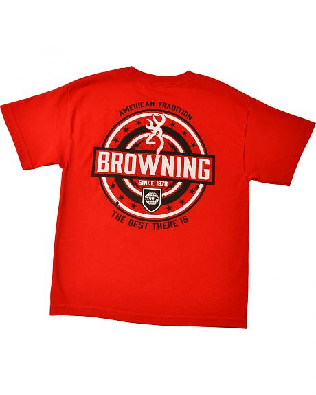 Browning Youth Boys' Red World League T-Shirt