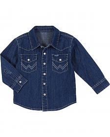 Wrangler Infant & Toddler Boys' Denim Long Sleeve Shirt