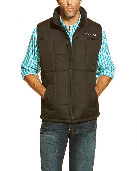 Ariat Men's Black Crius Quilted Vest