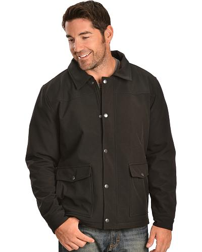 Red Ranch Mens Black Bonded Western Jacket Western & Country BNDCOT-BLK