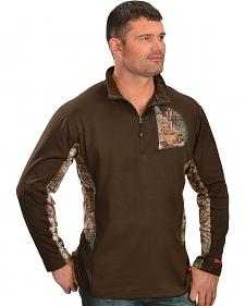 Browning Men's 1/4 Camo Zip Pullover