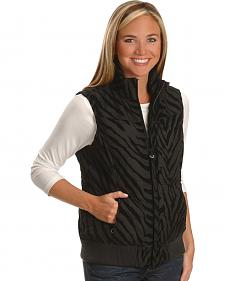 Ariat Women's Black Zebra Vest