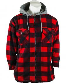 Trail Crest Buffalo Plaid Sherpa-Lined Shirt Jacket