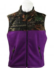 Trail Crest Women's Camouflage Yoke Fleece Vest