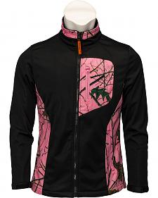 Trail Crest Black with Pink Camo Performance Jacket