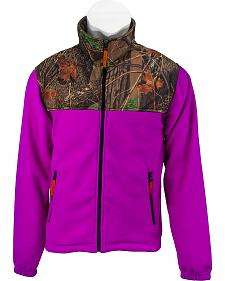 Trail Crest Neon Camo Yoke Fleece Jacket
