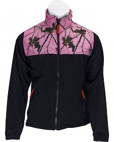 Trail Crest Black & Pink Camo Fleece Jacket