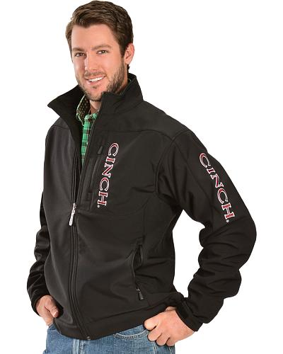 Cinch Maroon and White Embroidered Logo Jacket Western & Country MWJ1009022BLK