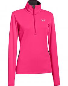 Under Armour UA ColdGear Evo Performance Pink 1/4 Zip Pullover