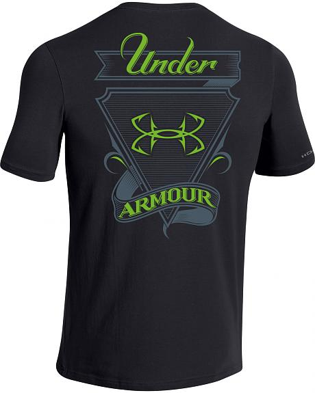 Under armour men 39 s fish hook t shirt sheplers for Under armor fishing shirt