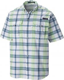 Columbia Men's Super Bahama Short Sleeve Plaid Shirt