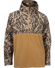 Rocky Waterfowler Hooded Half-Zip Camo Fleece Jacket