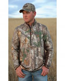 Cinch Camo Half-Zip Lightweight Tech Pullover Shirt