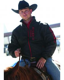 Cinch Grey and Red Logo Bonded Jacket