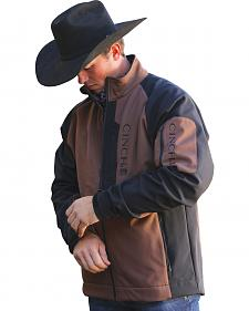 Cinch Brown Color Block Logo Jacket