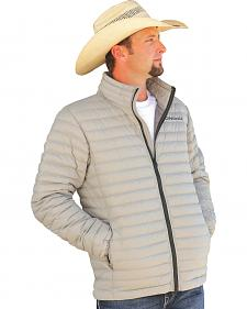 Cinch Grey Logo Lightweight Down Fill Jacket