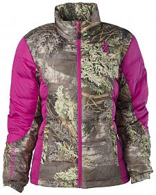 Browning Hell's Belles Coral and Camo Blended Down Jacket