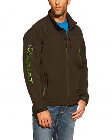 Ariat Men's Vernon Lime Logo Softshell Jacket