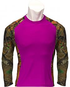 Trail Crest Women's Impulse 4-Way Stretch Long Sleeve Camo T-Shirt