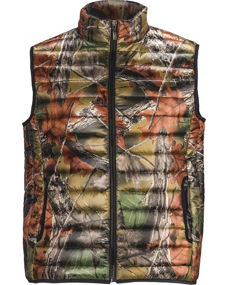 Trail Crest Men's Ultra Thurmic Silk Padded Camo Quilted Vest