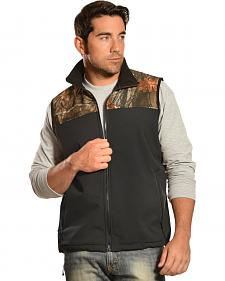 Red Ranch Men's Black & Camo Bonded Fleece Vest