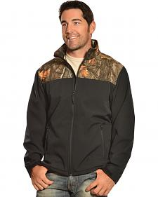 Red Ranch Men's Black & Camo Bonded Fleece Jacket