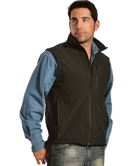 Red Ranch Men's Western Yoke Bonded Vest