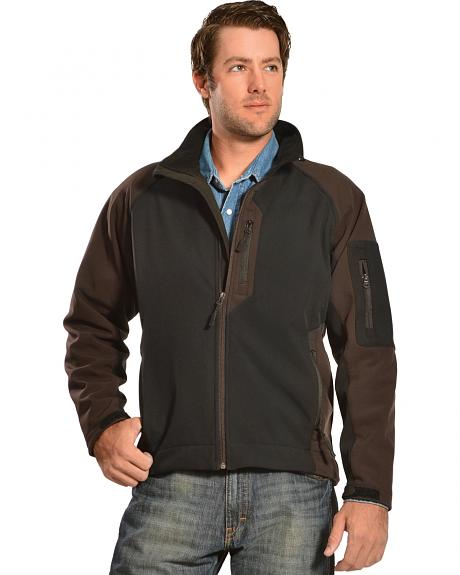 Red Ranch Men's Two-Tone Black Bonded Jacket