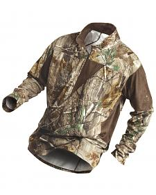 Rocky Men's SilentHunter 1/4-Zip Camo Shirt