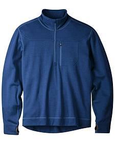 Mountain Khakis Clear Blue Rendezvous Quarter Zip Long Sleeve Shirt